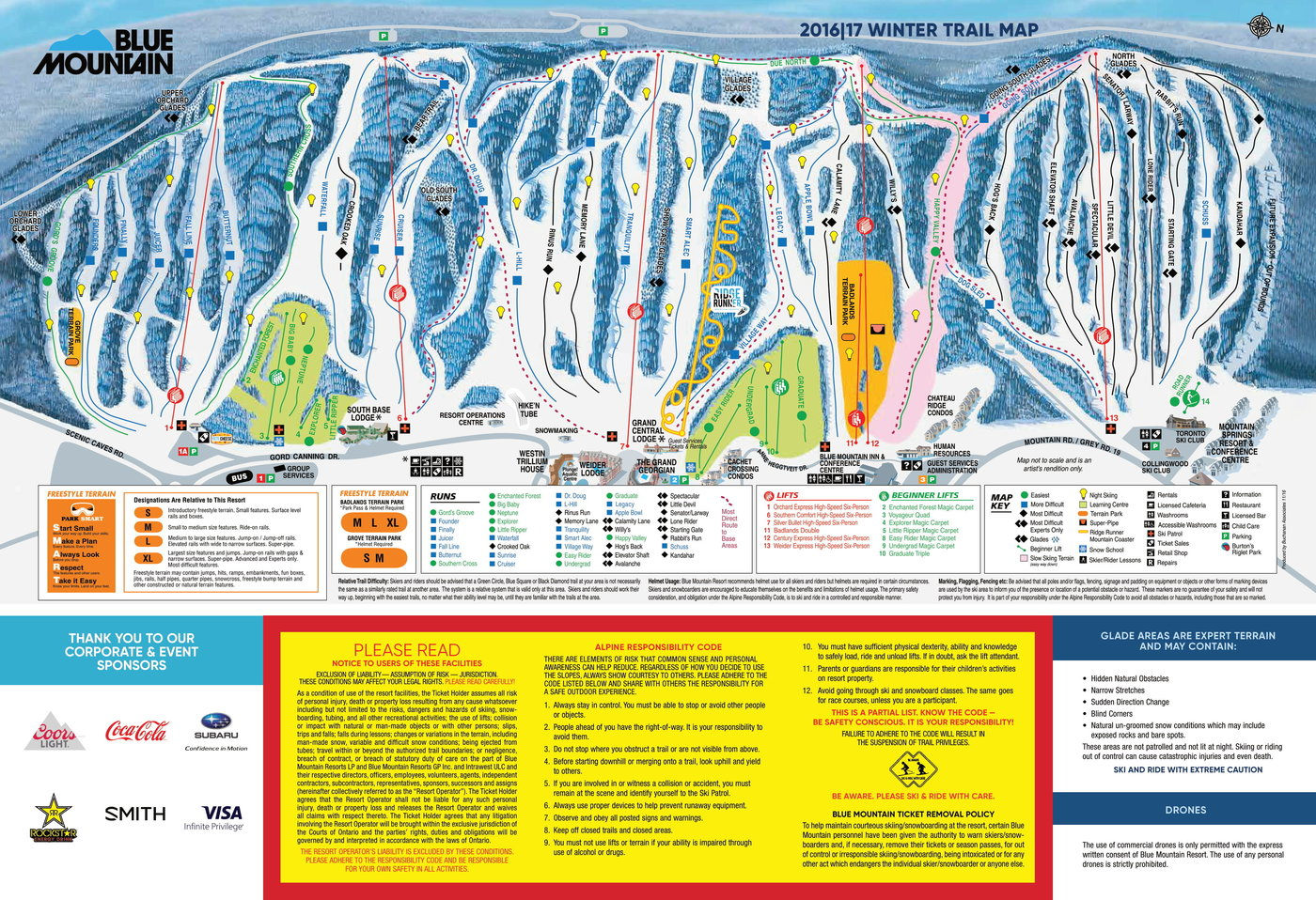 Blue Mountain Canada Trail Map
