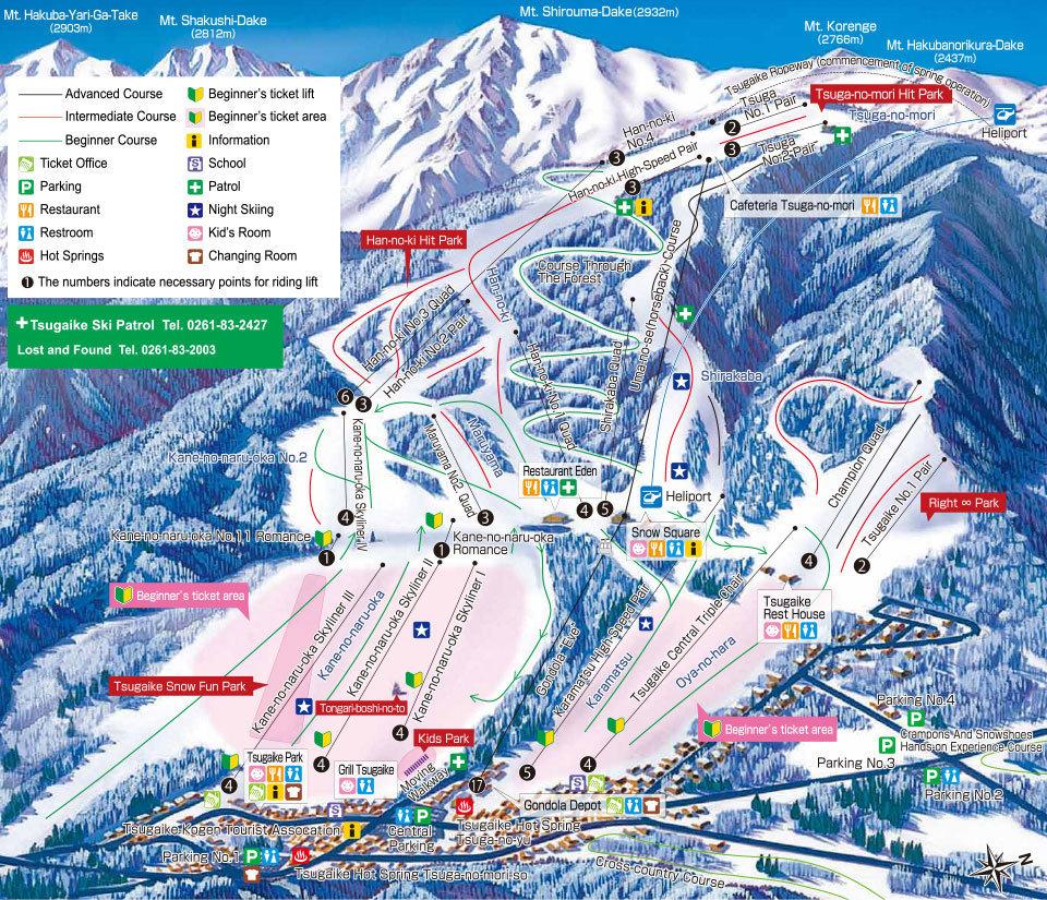 Tsugaike Trail Map