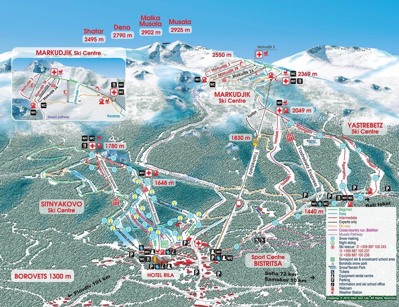 Borovets Trail Map