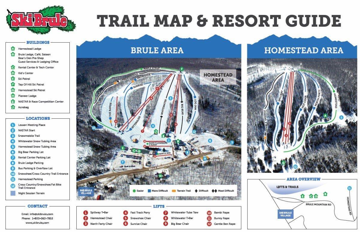 Ski Brule Trail Map