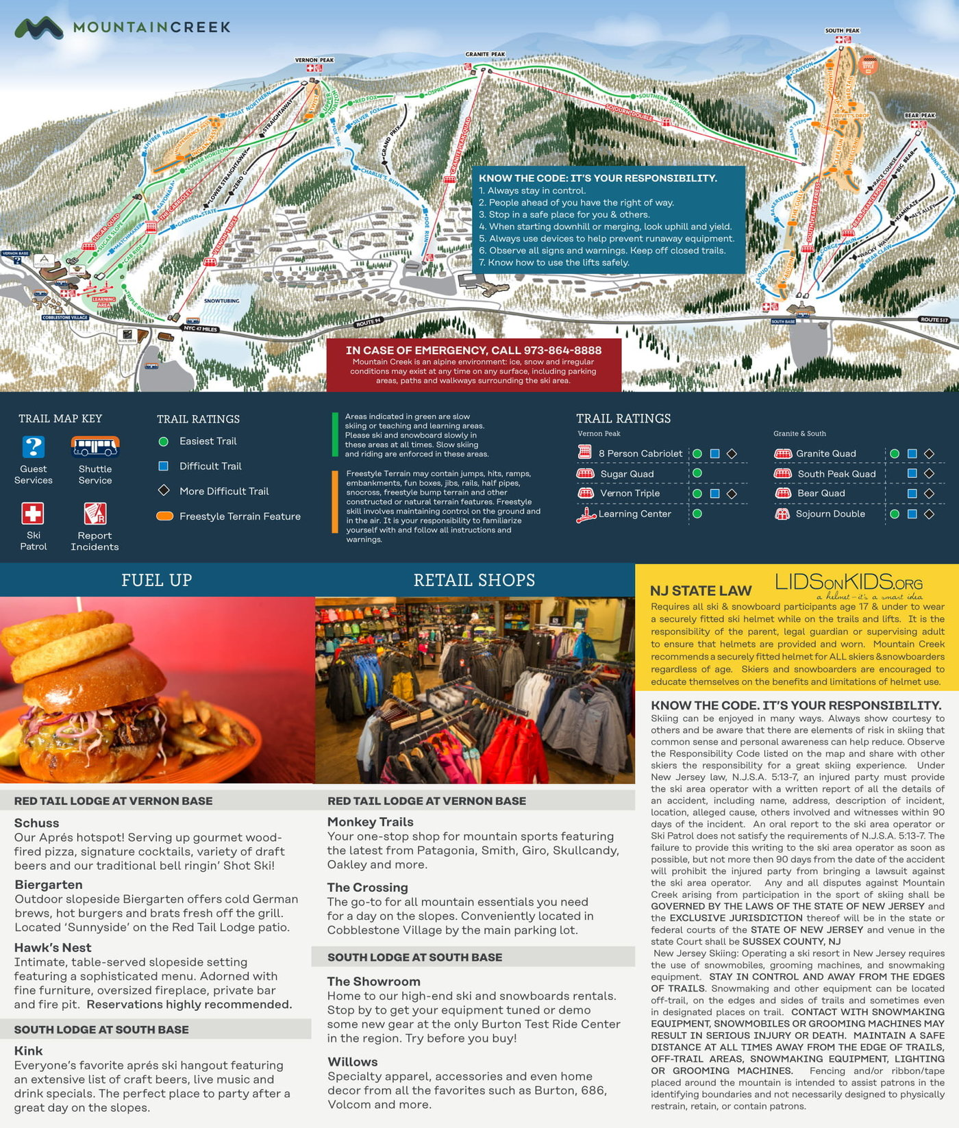 Mountain Creek Resort Trail Map