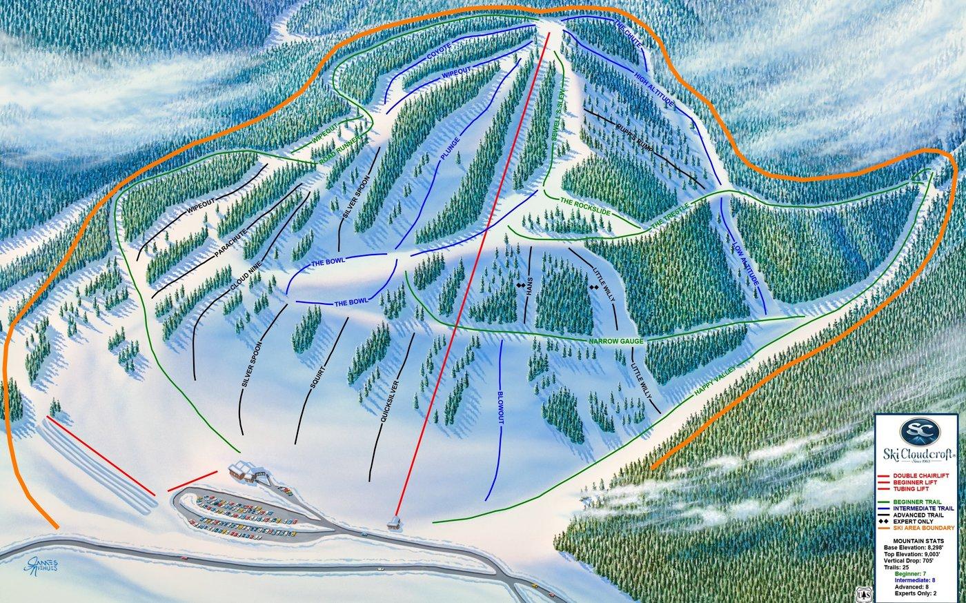 Cloudcroft Trail Map