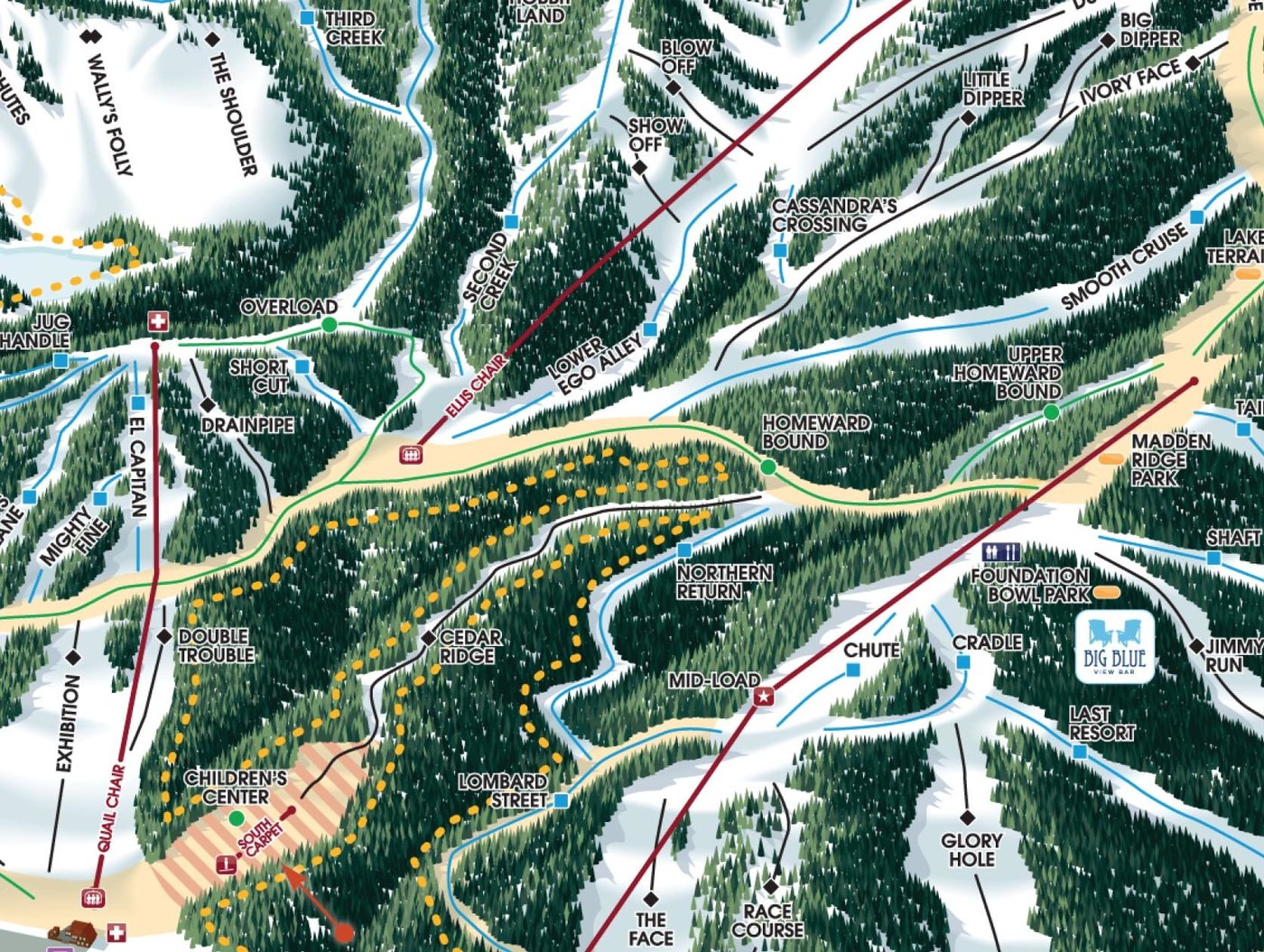 Homewood Mountain Trail Map