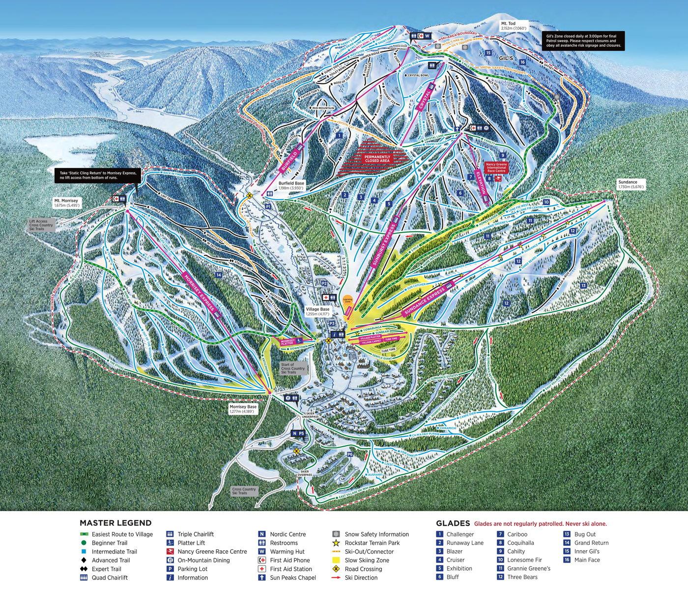 Sun Peaks Trail Map