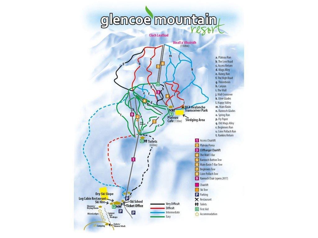 Glencoe Mountain Trail Map
