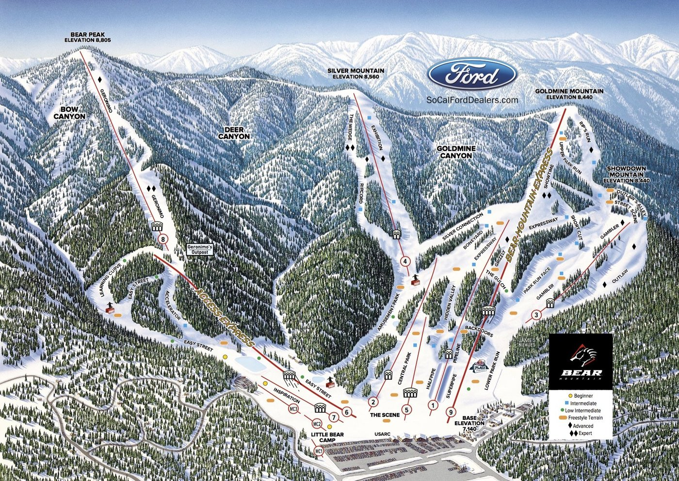 Bear Mountain Trail Map