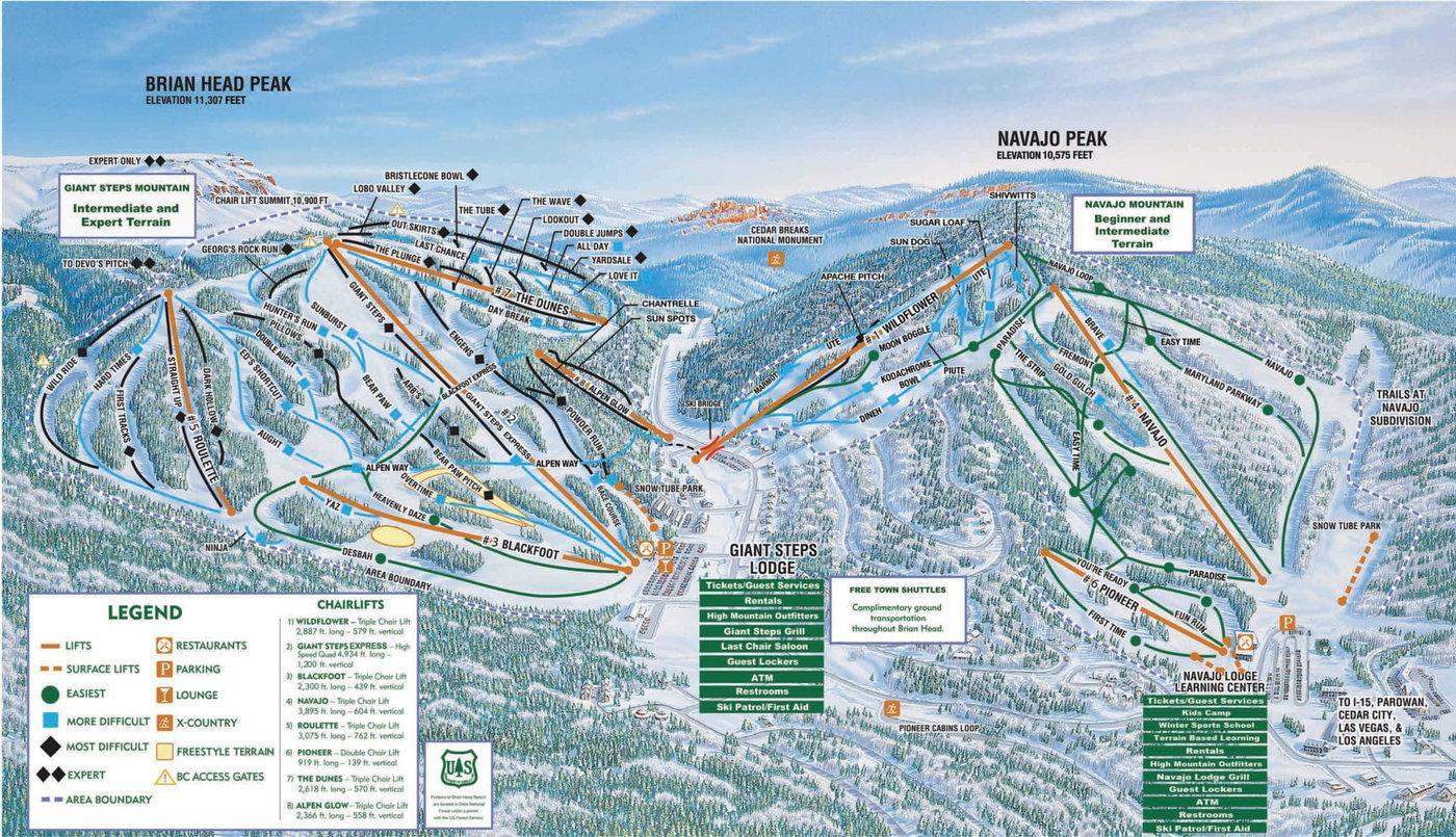 Brian Head Resort Trail Map