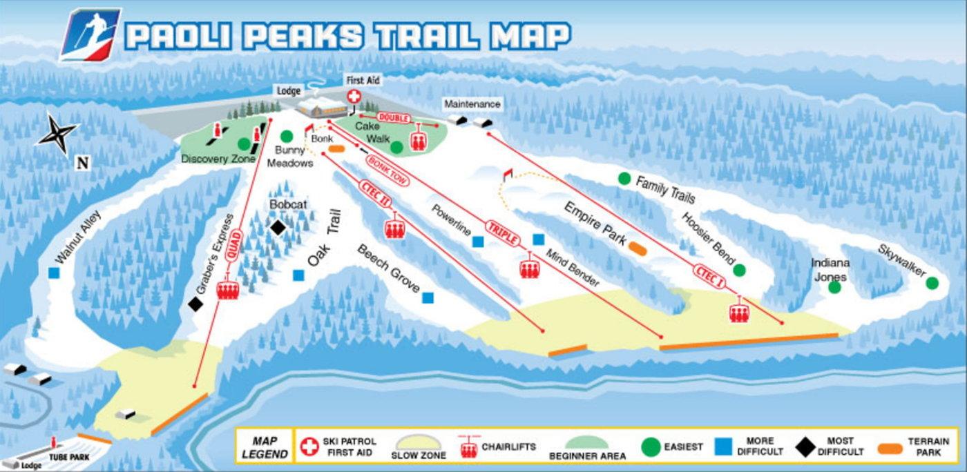 Paoli Peaks Trail Map