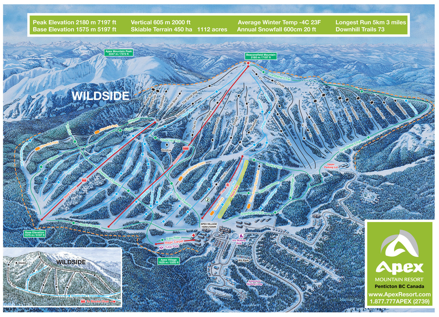 Apex Mountain Resort Trail Map