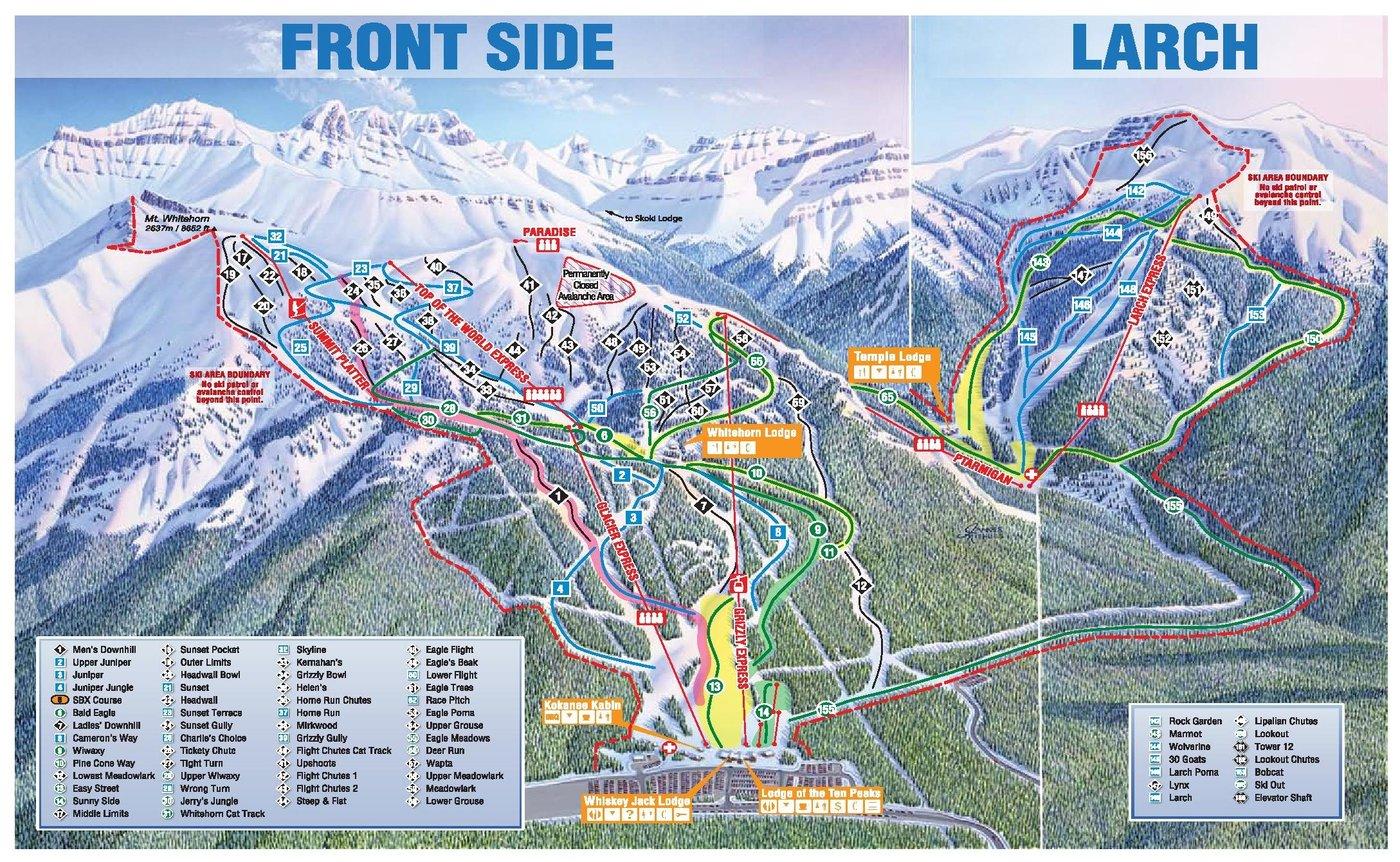 Lake Louise Trail Map