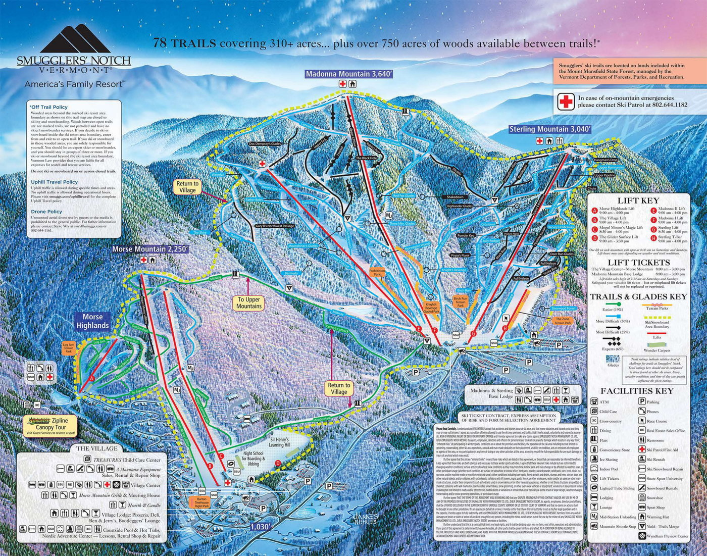 Smugglers' Notch Resort Trail Map