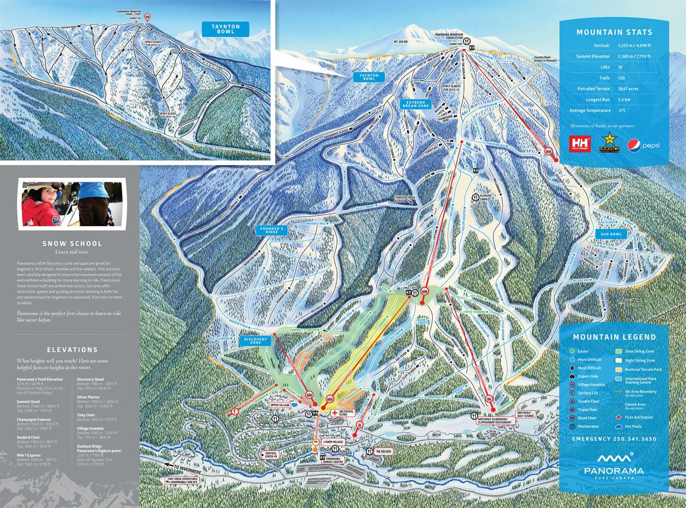 Panorama Mountain Resort Trail Map
