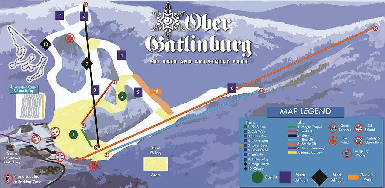 Ober Gatlinburg Trail Map
